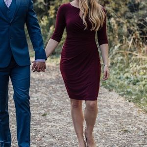Maroon Lauren Ralph Lauren dress